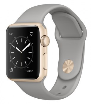Apple Watch Sport 38mm Gold with Concrete Sport Band