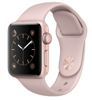 Apple Watch Sport 38mm Rose Gold with Pink Sand Sport Band