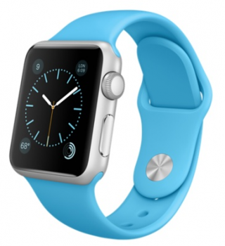 Apple Watch Sport 38mm Silver with Blue Sport Band