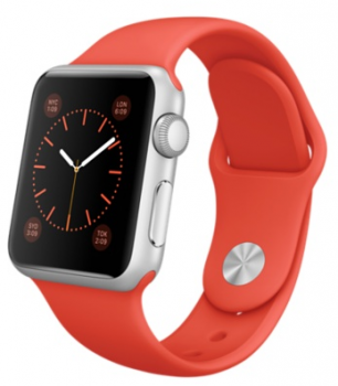 Apple Watch Sport 38mm Silver with Orange Sport Band