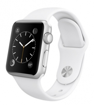 Apple Watch Sport 38mm Silver with White Sport Band