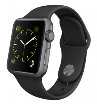 Apple Watch Sport 38mm Space Gray with Black Sport Band